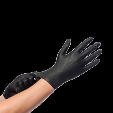 Nitril Zwart Handschoenen 100st M (50136111)