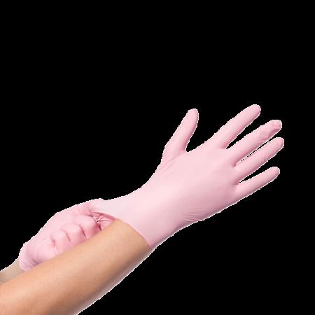 Nitril Roze Handschoenen 100st S