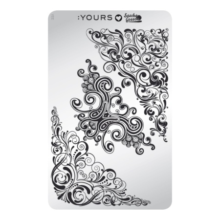 YOURS Stamping Plates  Curly Carnival 8719324059114