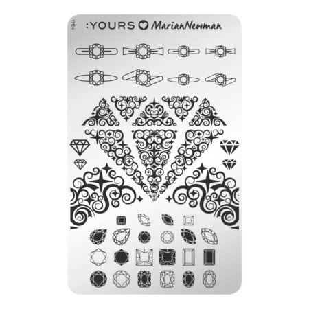 YOURS Stamping Plates Diamonds are forever 8719324059206