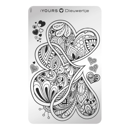 YOURS Stamping Queen of Hearts  8719324059480