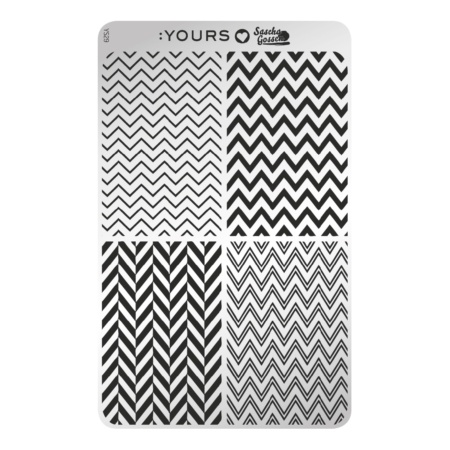 YOURS Stamping Plates Edgy Zebra 8719324059572