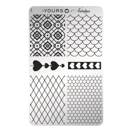 YOURS Stamping Plates  Trendy Netting 8719324059749