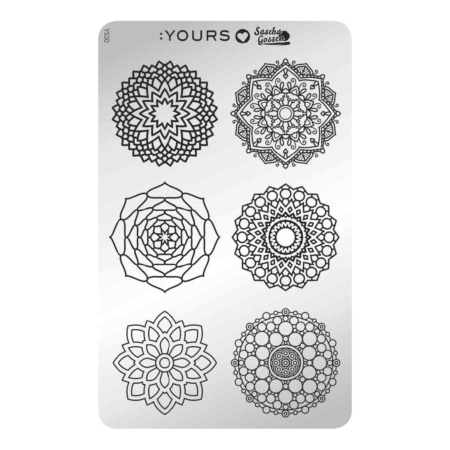 YOURS Stamping Plates  Mandala Mania 8719324059770